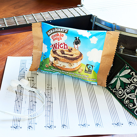 Multitasking with Ben & Jerry's 'Wich - Write a Hit Single