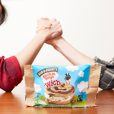 Multitasking with Ben & Jerry's 'Wich - Win an Arm Wrestling Match