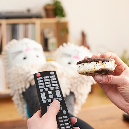 Multitasking with Ben & Jerry's 'Wich - Channel Surf