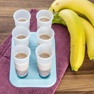 Pop cups and a bunch of bananas