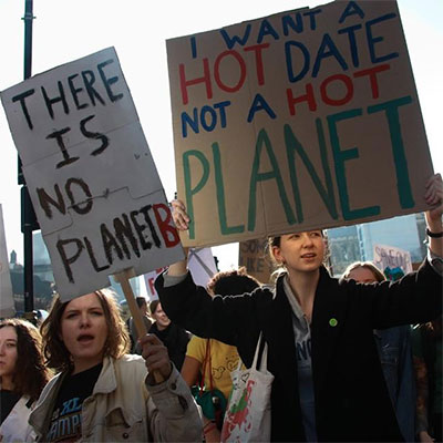 I want a hot date not a hot planet sign