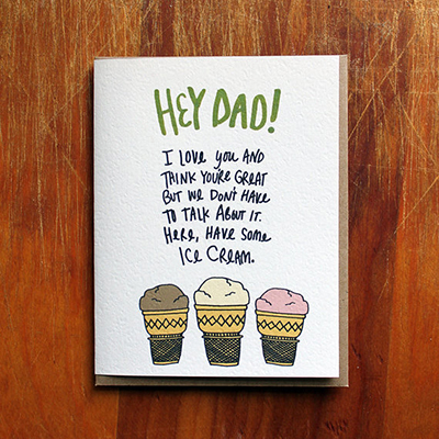 Father's Day ice cream card