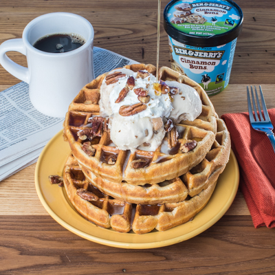 Ben & Jerry's Sunday Sundae Waffles recipe