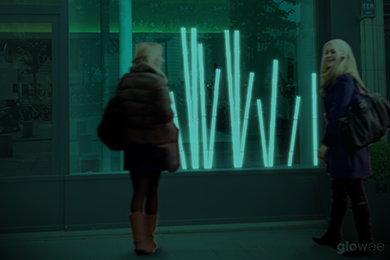 Glowee as a ecological and magical shop-front lighting