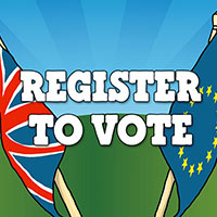 In or Out? Register to vote NOW!